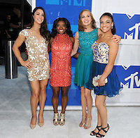 NEW YORK, NY - AUGUST 28:Aly Raisman, Madison Kocian, Laurie Hernandez and Simone Biles attend the 2016 MTV Video Music Awards at Madison Square Garden on August 28, 2016 in New York City Credit John Palmer / MediaPunch