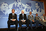 10 AUG 2010: Class of 2010 before induction. From left: Bruce Arena (Builder), Kyle Rote, Jr. (Veteran Player), Thomas Dooley (Player), Preki Radosavljevic (Player), and Colin Jose Media Award winner Paul Gardner. The 2010 National Soccer Hall of Fame Induction Ceremony was held at New Meadowlands Stadium in East Rutherford, New Jersey.