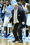 16 February 2013: UNC head coach Roy Williams. The University of North Carolina Tar Heels played the University of Virginia Cavaliers at the Dean E. Smith Center in Chapel Hill, North Carolina in a 2012-2013 NCAA Division I and Atlantic Coast Conference men's college basketball game. UNC won the game 93-81.
