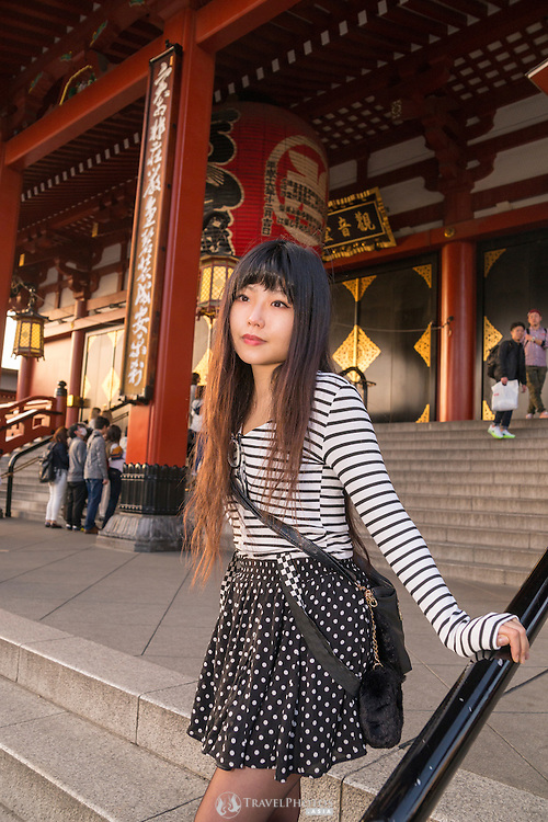 A young Japanese lady in Asakusa, Tokyo.