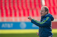 Toronto, ON, Canada - Friday Dec. 09, 2016: Brian Schmetzer during training prior to MLS Cup at BMO Field.