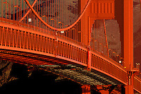 California, San Francisco, Golden Gate Bridge roadway