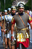 Men dressed as Roman Soldiers - Badascony, Hungary