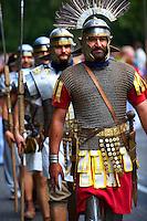 Men dressed as Roman Soldiers - Badascony, Hungary
