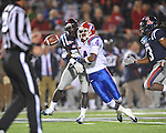 Ole Miss' Senquez Golson (21) deflects a pass away from Louisiana Tech's Quinton Patton (4) in Oxford, Miss. on Saturday, November 12, 2011.