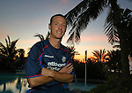 Craig Moore at Rangers plush hotel in Dubai as Rangers enjoy a winter break in early 2003