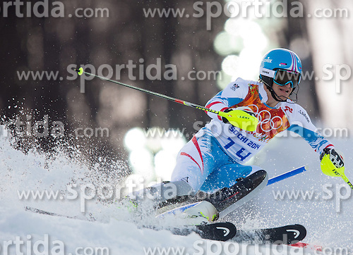 14.02.2014, Rosa Khutor Alpine Center, Krasnaya Polyana, RUS, Sochi 2014, Super- Kombination, Herren, Slalom, im Bild Matthias Mayer (AUT) // Matthias Mayer of Austria in action during the Slalom of the mens Super Combined of the Olympic Winter Games 'Sochi 2014' at the Rosa Khutor Alpine Center in Krasnaya Polyana, Russia on 2014/02/14. EXPA Pictures © 2014, PhotoCredit: EXPA/ Johann Groder