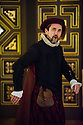 London, UK. 25.02.2014.  Shakespeare's Globe presents THE KNIGHT OF THE BURNING PESTLE, directed by Adele Thomas, in the Sam Wanamaker Playhouse. Picture shows: Phil Daniels (Citizen). Photograph © Jane Hobson.