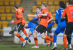 St Johnstone v Dundee United....22.02.11 .Jamie Adams shot is blocked by Scott Robertson.Picture by Graeme Hart..Copyright Perthshire Picture Agency.Tel: 01738 623350  Mobile: 07990 594431