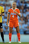 24 August 2012: Florida's Barney McKenzie. The University of North Carolina Tar Heels played the University of Florida Gators to a 0-0 overtime tie at Fetzer Field in Chapel Hill, North Carolina in a 2012 NCAA Division I Women's Soccer game.