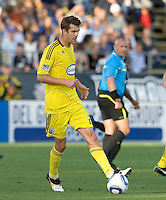 Eric Brunner of the Crew in action during the game against the Earthquakes at Buck Shaw Stadium in Santa Clara, California on June 2nd, 2010.  San Jose Earthquakes tied Columbus Crew, 2-2.