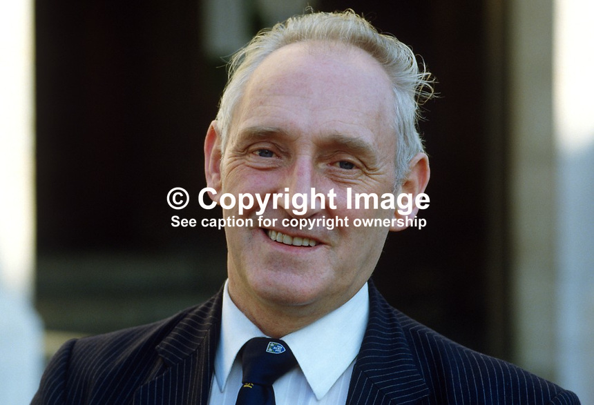 Alfie Ferguson, Lord Mayor, Belfast, Unionist Party, 19850024AF1..Copyright Image from Victor Patterson, 54 Dorchester Park, Belfast, UK, BT9 6RJ..Tel: +44 28 9066 1296.Mob: +44 7802 353836.Voicemail +44 20 8816 7153.Skype: victorpattersonbelfast.Email: victorpatterson@mac.com.Email: victorpatterson@ireland.com (back-up)..IMPORTANT: If you wish to use this image or any other of my images please go to www.victorpatterson.com and click on the Terms & Conditions. Then contact me by email or phone with the reference number(s) of the image(s) concerned.