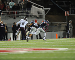 Ole Miss defensive back Dehendret Collins (1) intercepts vs. Texas A&amp;M in Oxford, Miss. on Saturday, October 6, 2012. Texas A&amp;M won 30-27...