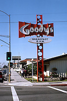 Googies: Goody's on Las Tunas Drive, San Gabriel. (The sign must be mid-sixties.)  Photo '87.