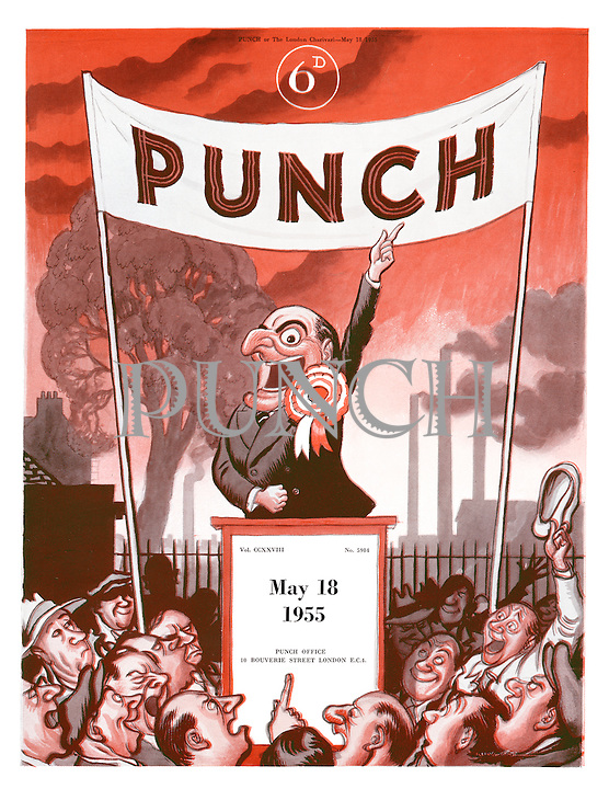 Punch (Front cover, 18 May 1955)