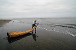 Early Moche, Reed fishing boat, Peruvian coast, Peru, South America