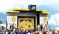 Picture by Simon Wilkinson/SWpix.com - 22/07/2016 - Cycling Tour de France 2016 Stage 19 - Albertville to Saint Gervais Mont Blanc<br /> Chris Froome podium<br /> copyright picture - Simon Wilkinson - simon@swpix.com