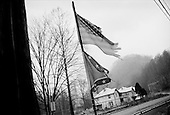 Switzer, West Virginia.USA .January 16, 2005..Flags flown non-stop since 9/11.