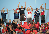12 September 2012: The Chicago Fire Fans show their support  during an MLS game between the Chicago Fire and Toronto FC at BMO Field in Toronto, Ontario Canada.