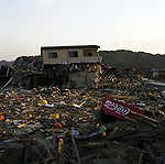 On May 11, 2011, earthquake of magnitude 9.0 and devastating tsunami hit the Tohoku area, killing more than 15,000 people and missing more than 5,000 people. The whole town of Rikuzentakata, Iwate.