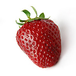 Strawberry Isolated close-up over white background