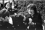 Audrey Wise, Labour MP, wrestling with police at the Grunwick Strike, North London 1977.