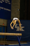 Junior Holly Cunningham makes it look easy during her balance beam routine. The number 25 ranked Kentucky Wildcats kicked off their gymnastics season with a blue vs white inter-squad scrimmage at Memorial Coliseum Thursday evening.  in Lexington, Ky., on Thursday, December, 6, 2012. Photo by James Holt | Staff