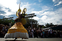"""Revellers attend the traditional """"Silletero"""" parade during the Flower Festival in Medellin August 7, 2012. Photo by Eduardo Munoz Alvarez / VIEW."""