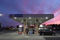 The Kroger gas station in the Rio Hill Shopping Center in Charlottesville, Va. Photo/Andrew Shurtleff