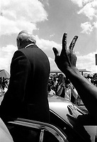 President FW de Klerk visits Soweto in the run up to the elections that brought democracy to South Africa after the end of apartheid.