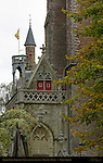 Gruuthuse Palace Towers, Paradise Portal Onze-Lieve-Vrouwkerk Church of Our Lady, Bruges, Brugge, Belgium