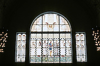 Otto Wagner: Church AM Steinhof, Vienna. North Window--by Kolo Moser.
