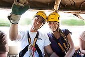 Couple riding up to go Ziplining on the Big island with Kohala zipline