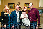 Baby Marc Fitzgerald with his parents Thomas & Joanne Fitzgerald, Listowel and his god parents Jennifer Fitzgerald & Noel Kennelly who was christened in St. Maty's Church, Listowel by Canon Declan O'Connor on Saturday last and afterward at the Listowel Arms Hotel.