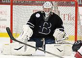 Branden Komm (Bentley - 30) - The Harvard University Crimson defeated the visiting Bentley University Falcons 5-0 on Saturday, October 27, 2012, at Bright Hockey Center in Boston, Massachusetts.
