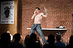 April 30, 2011. Raleigh, NC.. Steve O, of Jackass fame, performed a stand up comedy routine at Goodnights in Raleigh. His new career path includes jokes about his carer on Jackass, as well as a few of the stunts that he is famous for, including pouring lemon juice into his eyes.