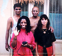 NWA Democrat-Gazette/ANDY SHUPE<br /> Louise Ellis (right), an Ashtanga yoga teacher who lives in India and Fayetteville, poses with guru Sri K Pattabhi Jois in this undated photograph.