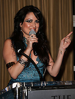 BEVERLY HILLS, CA, USA - MARCH 28: Vikki Lizzi at the Versace Unveiling Of The 1st Pop Recording Artist Superhero - KUBA Ka's Performance Outfits. Designed by the legendary fashion hosuse - Donatella Versace. For the Benefit of the Face Forward Foundation (Plastic Surgery for Destroyed Faces from Violence). Pop entertainer TV personality KUBA Ka, together with VERSACE, unveiled Kuba Ka's new Versace images, for the First Pop Artist/Superhero of the World. He has become the inspiration of Donatella's newest and wildest creations and will celebrate the launch of his new power house conglomerate - KUBA Ka Empire Inc. in collaboration with the sensational fashion house - VERSACE on Friday, his birthday at a red carpet media and celebrity event at the luxurious Peninsula Hotel in Beverly Hills held at the Peninsula Hotel on March 28, 2014 in Beverly Hills, California, United States. (Photo by Xavier Collin/Celebrity Monitor)