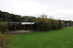 "The sadly decrepit ground ""The Firs"" next door to Hastings Utd ground The Pilot Field, but more associated with St Leonards FC. Photo taken prior to Hastings Utd 3 Blackfield & Langley 0, 20/10/2012. FA Cup 4th Round Qualifying. Photo by Simon Gill"