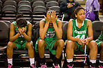 Members of the as St. Mary's team react to losing the game 53-51 to  Archbishop Mitty in the girls DIV II CIF Norcal Championship game at Power Balance Arena Tuesday Jan 3, 2012.