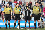 20 November 2016: Match Officials. From left: Assistant Referee Michael Hill, Referee Tori Penso, Fourth Official Doug Hartemann, and Assistant Referee Daniel Thornberry. The University of North Carolina Tar Heels played the Clemson University Tigers at Fetzer Field in Chapel Hill, North Carolina in a 2016 NCAA Division I Women's Soccer Tournament Third Round match. UNC won the game 1-0.