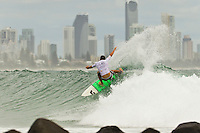 Burleigh Heads Queensland/Australia (Friday, 20 January, 2012) – The 2011 ASP World Junior Title race got underway today with the running of the Von Zipper Trials in 3' surf at Burleigh Heads.. The Billabong World Junior Championships being run on Queensland's Gold Coast will decide the 2011 Junior World Champions in the men's and women's divisions..The first three places in todays trials received wild cards into the main event. Wade Carmichael (AUS) was the overall winner with Eli Steele (AUS) 2nd and Tim MacDonald (AUS) in the 3rd place. Kelly Norris (AUS) was 4th in the trials. . Photo: joliphotos.com