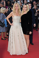 Sandrine Kiberlain &amp; Elodie Bouchez at the premiere for &quot;Ismael's Ghosts&quot; at the opening ceremony of the 70th Festival de Cannes, Cannes, France. 17 May 2017<br /> Picture: Paul Smith/Featureflash/SilverHub 0208 004 5359 sales@silverhubmedia.com
