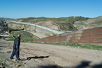 Since 2006 the US placed a second border to dissuade the crossing of the security fence. Night vision camera and movement detectors have been put in place. Surveillance patrolling is constant on the US side. Tijuana, Mexico. Jan 06, 2015.