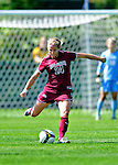 19 September 2010: Colgate University Raider midfielder Christy Patterson, a Freshman from Kenilworth, IL, in action against the University of Vermont Catamounts at Centennial Field in Burlington, Vermont. The Raiders scored a pair of second half goals two minutes apart to notch a 2-0 victory over the Lady Cats in non-conference women's soccer play. Mandatory Credit: Ed Wolfstein Photo