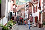 Main Street, St Jean Pied de Port, Basque Country, Pyrenees-Atlantiques, Aquitaine, France