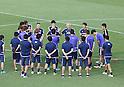 Football/Soccer: Japan national team training session