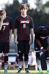 23 October 2015: Louisville's Jack Gayton. The University of North Carolina Tar Heels hosted the University of Louisville Cardinals at Fetzer Field in Chapel Hill, NC in a 2015 NCAA Division I Men's Soccer match. UNC won the game 2-1.