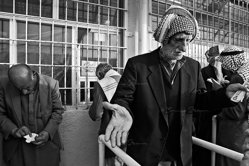Baghdad, Iraq, Feb 19, 2003.A day at the races: Iraqis, like all Arabs, love horse racing; the Equestrian Club is a popular race track in Baghdad..Races are held 3 days a week, betting is fierce...