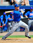 10 March 2012: New York Mets outfielder Jason Bay in action during a Spring Training game against the Washington Nationals at Space Coast Stadium in Viera, Florida. The Nationals defeated the Mets 8-2 in Grapefruit League play. Mandatory Credit: Ed Wolfstein Photo